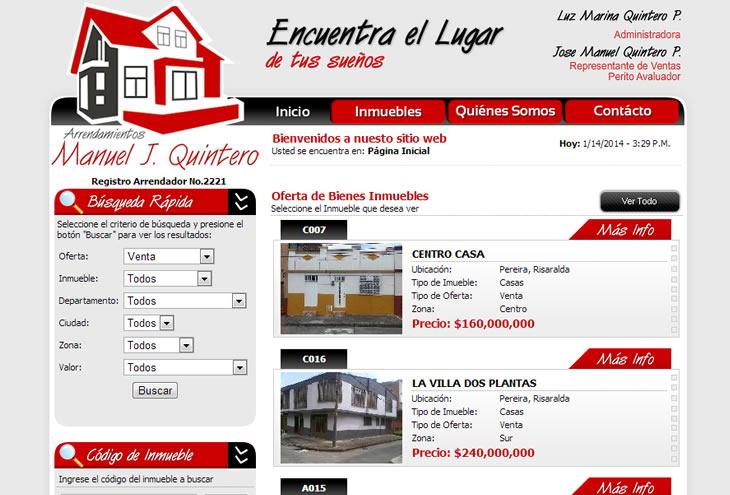 Dise o de paginas web de inmobiliarias y constructoras for Paginas inmobiliarias